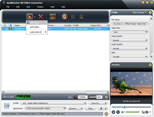 Click to view mediAvatar HD Video Converter screenshots