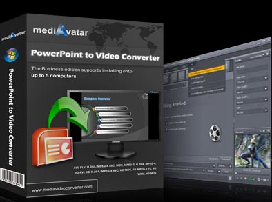 mediAvatar PowerPoint to Video Converter Screen shot